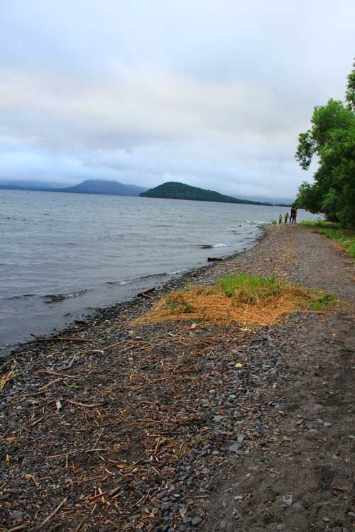 北海道の屈斜路湖の様子