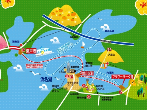 浜名湖の遊覧船コース