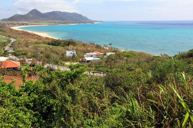 玉取崎展望台からの石垣島の眺め